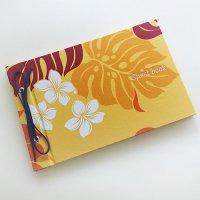 ハワイアン ゲストブック(芳名帳) ハワイアン パッションオレンジ 【メール便OK(送料164円)】