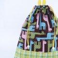 着替え袋(カラフルキリン)