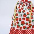 着替え袋(イチゴ ホワイト)