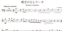 <strong>【楽譜データ】</strong><br>嘆きのセレナータ(トスティ作曲)