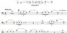 <strong>【楽譜データ】</strong><br>シューベルトのセレナード(シューベルト作曲)
