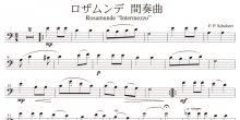 <strong>【楽譜データ】</strong><br>ロザムンデ間奏曲(シューベルト作曲)