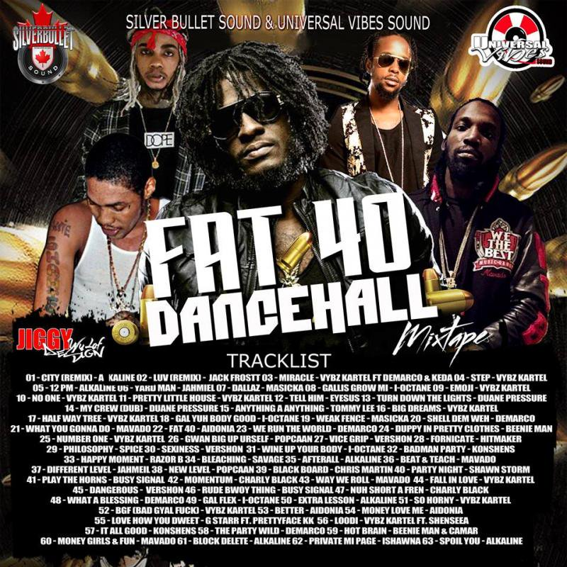 SILVER BULLET SOUND & SELECTA JIGGY – FAT 40 DANCEHALL MIX (2016) MIXCD f 20161205