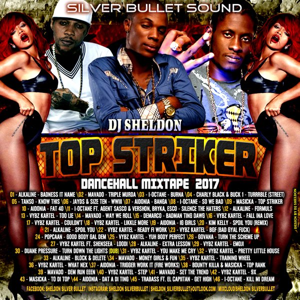 Silver Bullet Sound - Top Striker Dancehall Mixtape 2017 MIXCD t 20170220