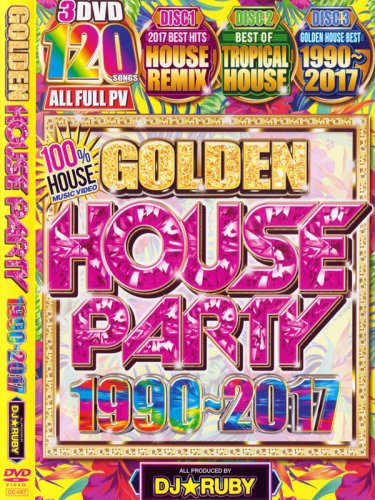<img class='new_mark_img1' src='https://img.shop-pro.jp/img/new/icons1.gif' style='border:none;display:inline;margin:0px;padding:0px;width:auto;' />DJ★RUBY / GOLDEN HOUSE PARTY 1990〜2017 3DVD