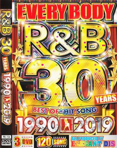 決定版R&Bの教科書!!!「伝説R&B30年分」完全収録!!!↑↑ - EVERYBODY R&B 30YEARS 1990-2019 - (3DVD)