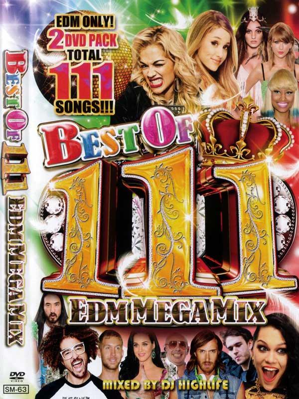 最新のEDM DVD決定版BEST OF 111 EDM MEGA MIX (2 DVD)