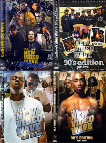 90年ヒップホップ4本セット!!DJ FADE - the NEW VIDEO WAVE 90's Editio DVD