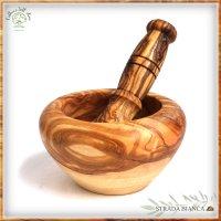 オリーブの乳鉢-12cm