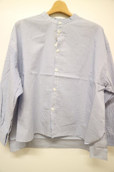 DMG ブロードストライプスタンドワイドシャツ