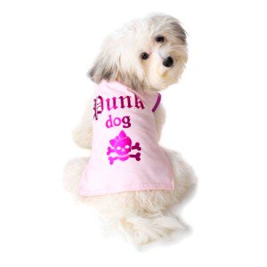 可愛いを体験♪特別価格商品【Punk Dog Pink Tシャツ】