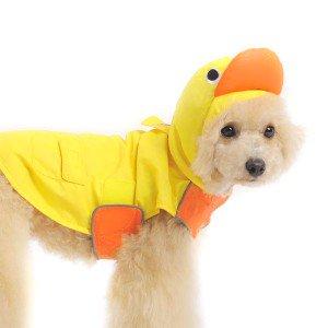 犬のレインコート【アヒル】