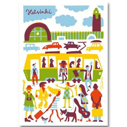 Kehvola Design / Timo Manttari [ Central Railway Station ] postcard