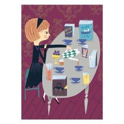 Kehvola Design / Marika Maijala [ Tea party ] postcard