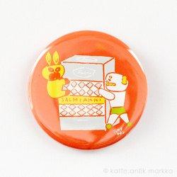 ニシワキタダシ [ おじさんとうさぎ山ごんぞう ] 缶バッチ(サルミアッキ)