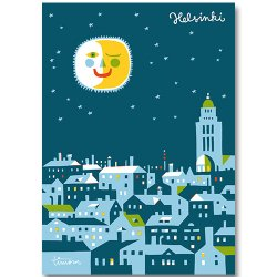 Kehvola Design / Timo Manttari [ Good night Helsinki ] postcard
