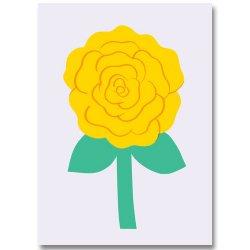 POLKKA JAM [ Ruusu, keltainen ] postcard