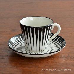 Upsala Ekeby / Eugen Trost [ Zebra ] coffeecup & saucer