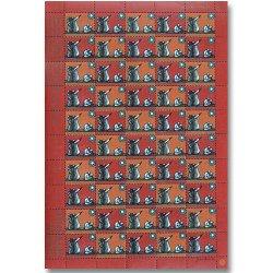 デンマークの切手シート(1971年/クリスマス切手)