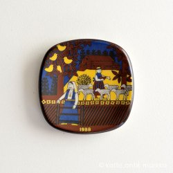 ARABIA / Raija Uosikkinen [ Kalevala / Factory visit ] small plate (1988年)