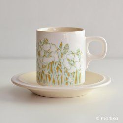 <img class='new_mark_img1' src='https://img.shop-pro.jp/img/new/icons40.gif' style='border:none;display:inline;margin:0px;padding:0px;width:auto;' />Hornsea / Sara Vardy [ FLEUR ] cup & saucer (from England)