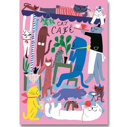 Kehvola Design / Marika Maijala [ Cat Cafe ] postcard
