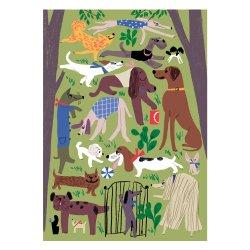 Kehvola Design / Marika Maijala [ Dog Park ] postcard