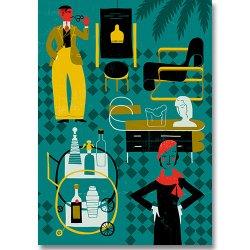 Kehvola Design / Timo Manttari [ 1930s ] postcard