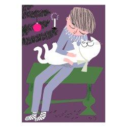 Kehvola Design / Marika Maijala [ Cuddle ] postcard