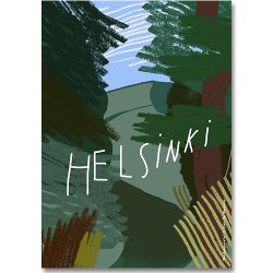 Camille Romano [ HELSINKI - Keskuspuisto ] postcard