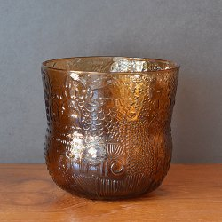 Nuutajarvi / Oiva Toikka [ Fauna ] punch bowl (H125mm/brown)