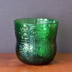 Nuutajarvi / Oiva Toikka [ Fauna ] punch bowl (H125mm/green)