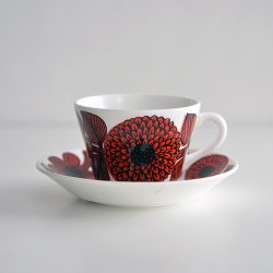 Gustavsberg / Stig Lindberg [ Rod Aster ] coffeecup & saucer