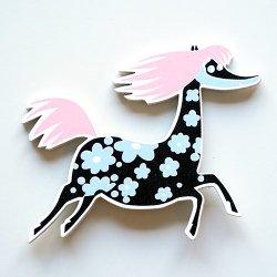APRILMAI - ムーミンの木製マグネット(プリマドンナの馬)