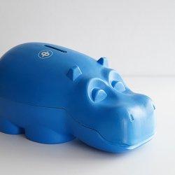 Osuuspankki [ HIPPO ] 貯金箱(ビッグサイズ ブルー)
