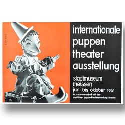 <img class='new_mark_img1' src='https://img.shop-pro.jp/img/new/icons36.gif' style='border:none;display:inline;margin:0px;padding:0px;width:auto;' />DDR vintage poster [ internationale puppen theater ausstellung ]
