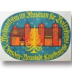 DDR vintage poster [ Weihnachten im Museum für Volkskunst ]