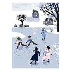 Kehvola Design / Marika Maijala [ Skaters ] postcard