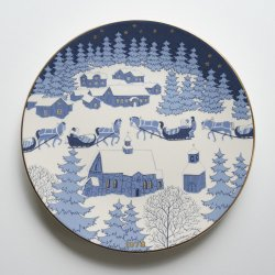 ARABIA / Raija Uosikkinen [ JOULULAUTANEN ] christmas plate(1978年)