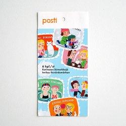 Posti / Matti Pikkujamsa [ Ystavanpaiva ] 切手6枚セット