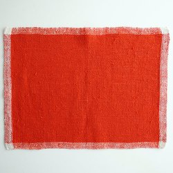 Tampella / Dora Jung - linen table mat (red)