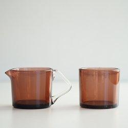 Riihimaen lasi / Nanny Still [ Rosso ] sugar bowl & creamer