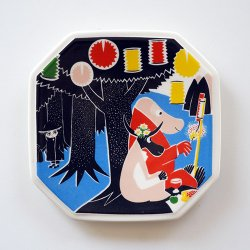 ARABIA MOOMIN / Tove Slotte [ 3/6 1990-1993 ] wall plate