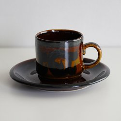 ARABIA / Gunvor Olin Gronqvist [ Soraya ] coffeecup & saucer