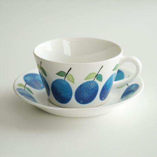 Gustavsberg / Stig Lindberg [ PRUNUS ] teacup & saucer