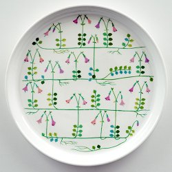 Gustavsberg / Stig Lindberg [ LINNEA ] 24cm plate