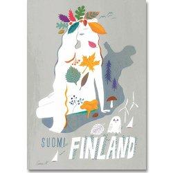 Come to Finland / Sanna Mander [ SUOMI FINLAND ] 大判ポストカード