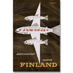 Come to Finland / Erik Bruun [ Lohilento ] 大判ポストカード