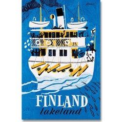 Come to Finland / Erik Bruun [ FINLAND LAKELAND ] 大判ポストカード