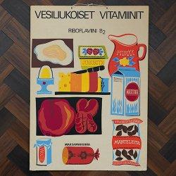 フィンランドで見つけた教材ポスター(ビタミンB2)